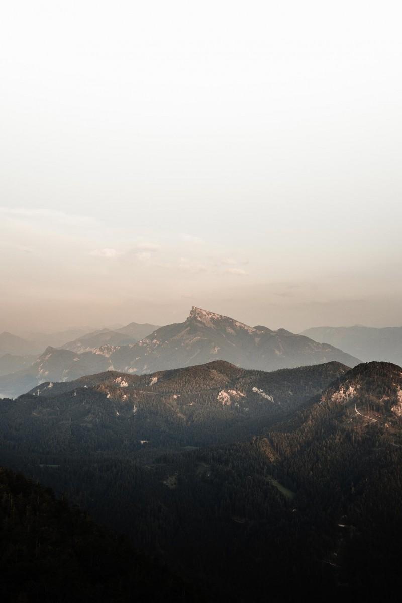 sunset on Schafbergspitze in Salzburger land photo by Brian rauschert