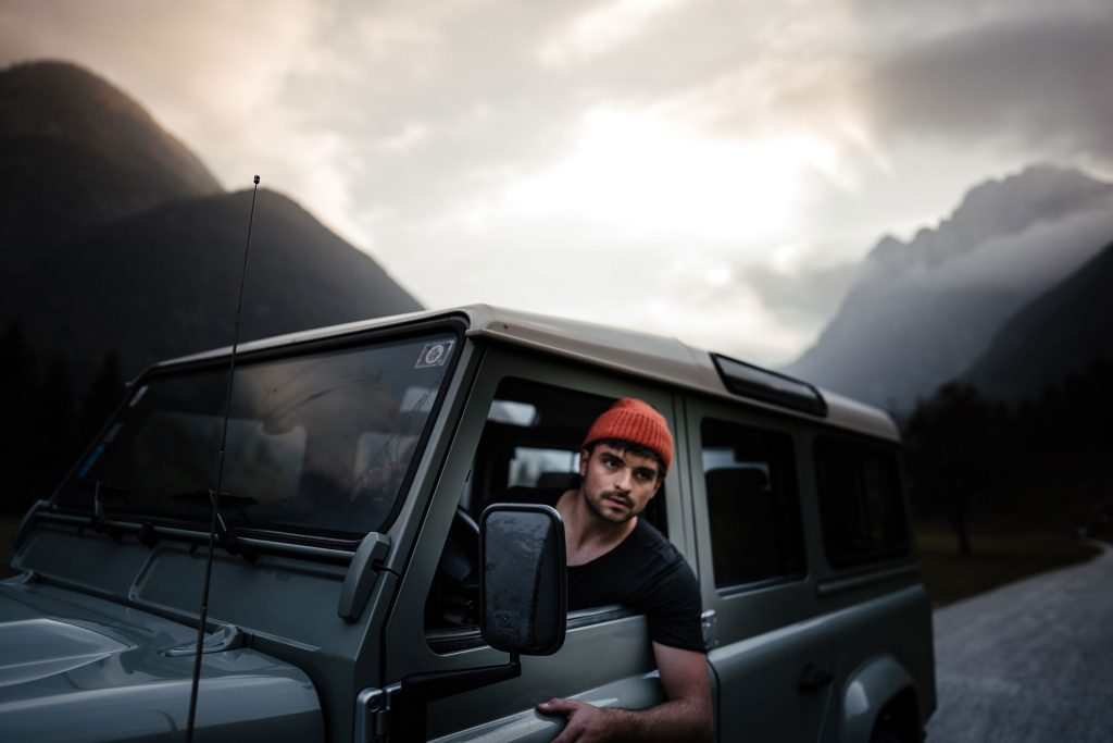 Filip Mierzwa in the landcover defender Lifestyle & People Photo by Brian Rauschert